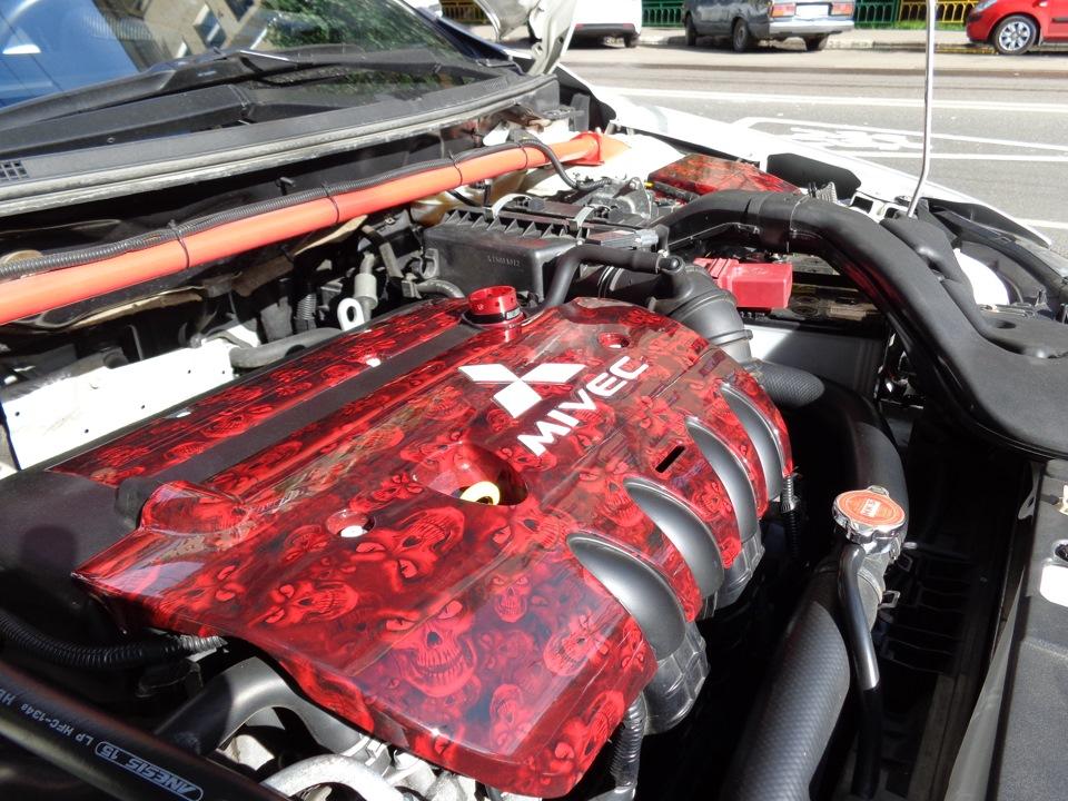 Покраска двигателя автомобиля